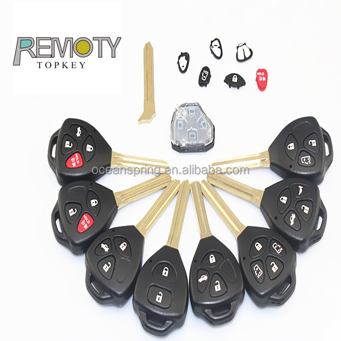Toyota car keys remote shell, car blank key,Remote Key Avalon No Chips