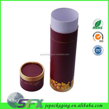 Recycled high quality round wine glass box veno glass cyclinder packing box
