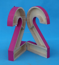Unique Design Decorative paulownia Wooden Letters