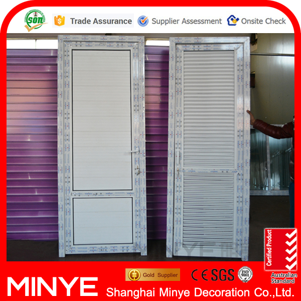Conch UPVC profile PVC entry door with UPVC panel