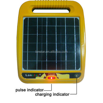 Livestock solar electric fence energizer integrate with solar panel