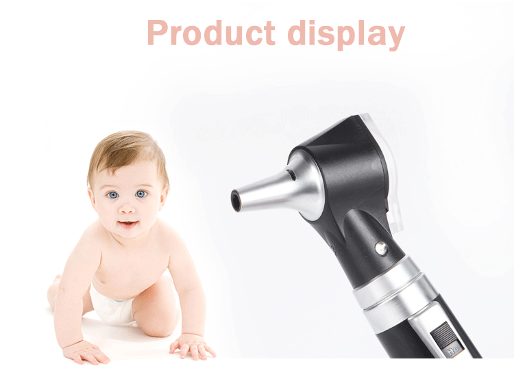 Portable double Insertion otoscope and ophthalmoscope set rechargeable charger portable