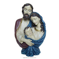 wholesale poly resin custom religious holy family statue