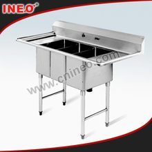 Free Standing Commercial Kitchen Sink/Stainless Steel Freestanding Kitchen Sink/Stainless Steel Double Sink Bench