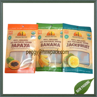 Food grade plastic resealable stand up ziplock pouch doypack for dried fruit packaging