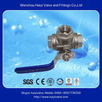 Good quality 3/8 inch mini ss304 chemical resistant ball valve