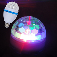 Home Party, Christmas, Stage Decoration Full Color RGB Auto Rotating Led Blub Lamp 3 Watt (Passed CE& RoHS)
