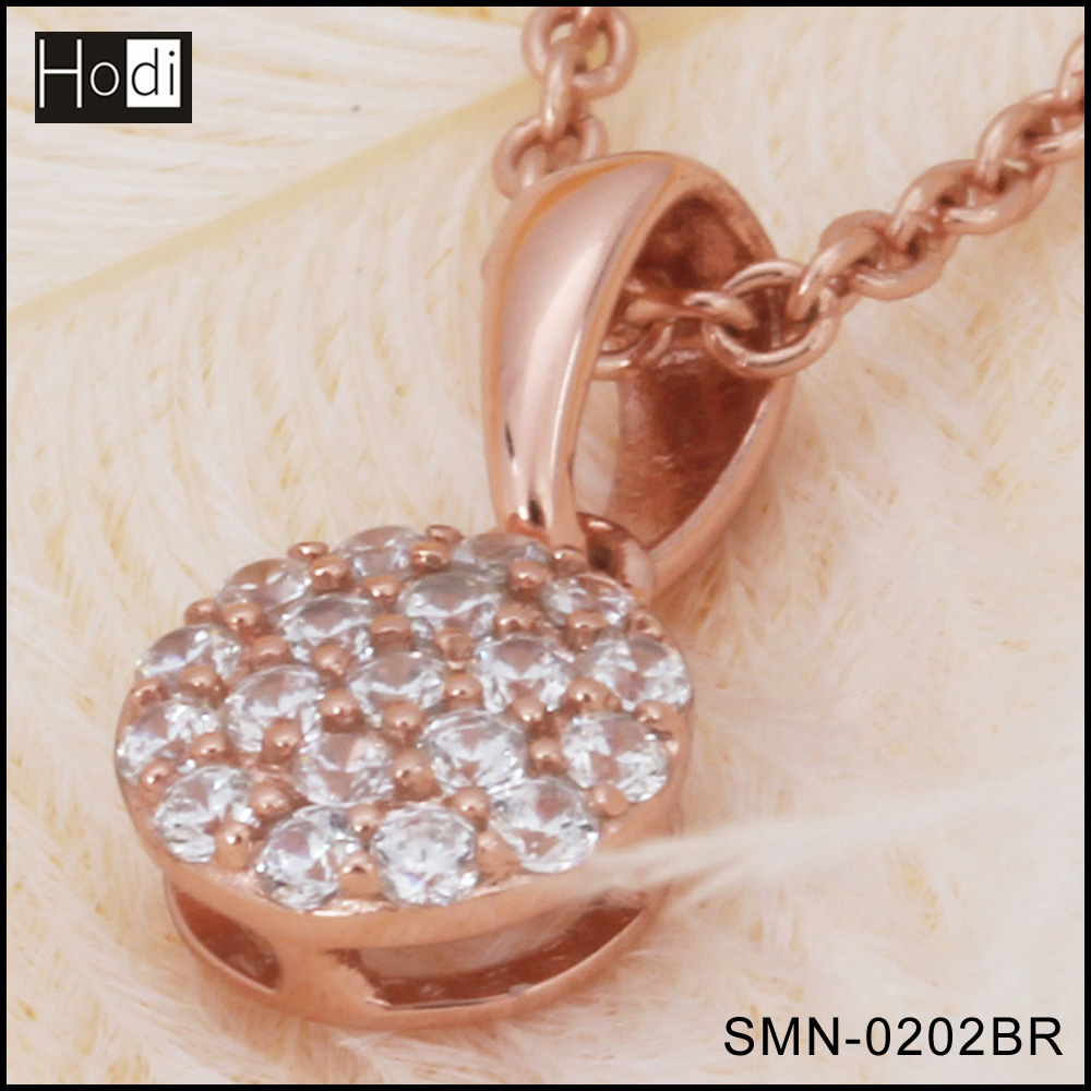 Latest Design Jewelry Rhodium Plated Brass Wedding Necklace