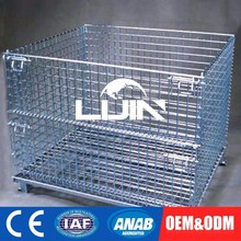 Customization Stackable Metal Storage Wire Mesh Pallet Cage