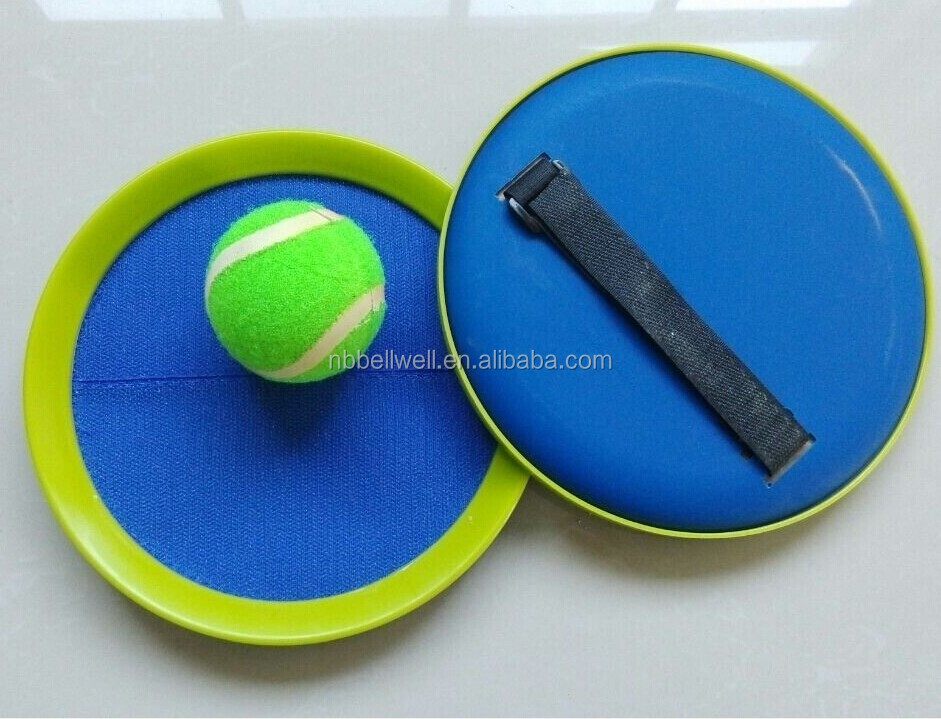 Beach velcro catch ball game with 2 bat 1 ball