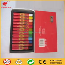 round colors non toxic wax crayon oil pastel