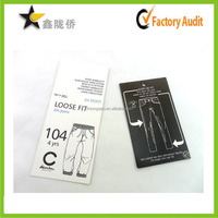 Customized Pants Hang Tag Printing , Price Tag Molding