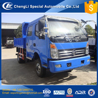 china factory sale foton double row 5t 4wd lorry dump truck for sale