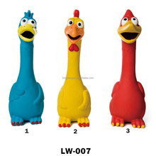 Cheap Pet Squeaky Chicken Voice Latex Puppy Toy for Dogs Playing