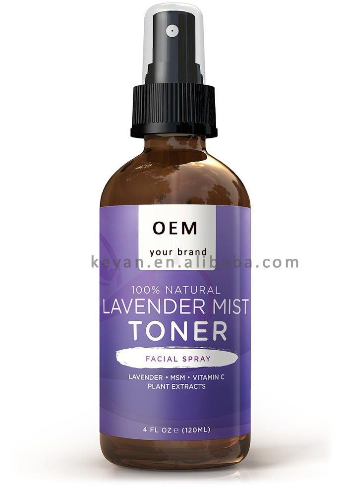 OEM/ODM natural lavender mist spray revitalizing facial toner