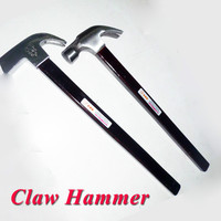 claw hammer with Paint wooden handle