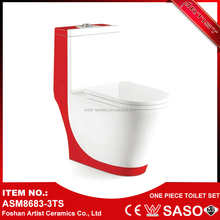 2016 Trending Products Wall Hung Red Color Ceramic Toilet