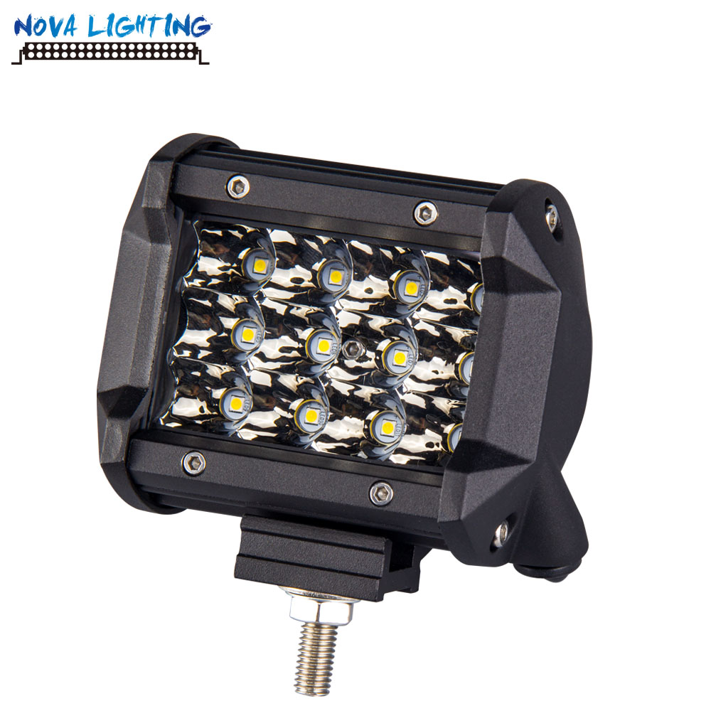 Applied On Jeep Wrangler Light 4 INCH 36W Dual Row AUTO LED Working Light