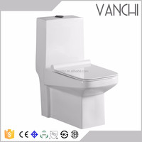 Ceramic heated upc one piece toilet commode