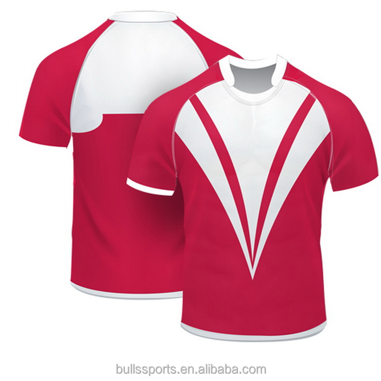 top sell sublimated rugby practice shirts for custom design blank rugby shirts