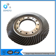 Large steel spiral bevel oil pump gear