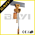 HHBD type 0.5 ton 380v running mini electric hoist with electric trolley
