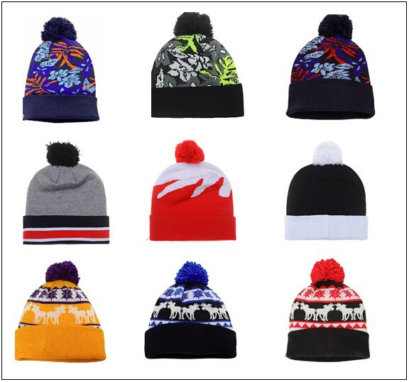 Hot selling fashion stock Winter Hat Knitted Knitting Hat Beanie
