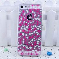 crystal production 3d cases for iphone 5 case/accept small mix order