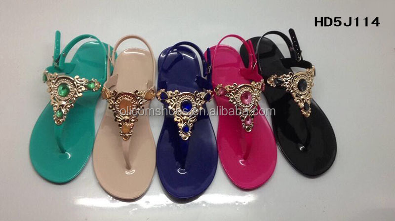 2015 New Design Lady Jelly Sandal,Fashion PVC Jelly Sandal