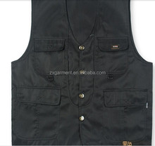 new 2017 vest men 100% cotton waistcoat fishing vest casual plus size photography vest