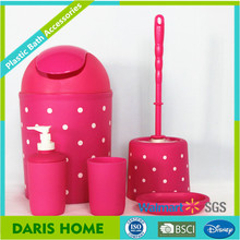 Pink ABS bathroom accessory sets , bathroom set china