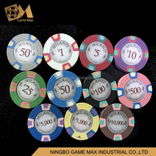 10g realy clay 3 colors poker chip without the metal coin/milano chip