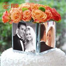 hot sale acrylic vase with photo frame