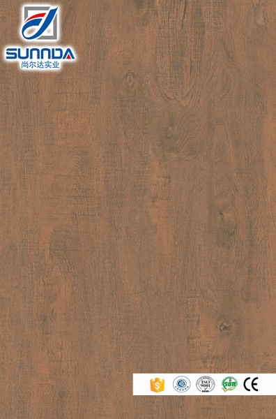 Sunnda vintage red glazed porcelain tile faux solid wood flooring