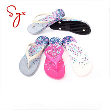 Pink Pvc Summer Flop Pretty Woman Slipper With Hard Sole