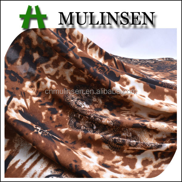 Mulinsen Textile Super Soft Knitting Printed Four Way Stretch FDY Poliester Fabric