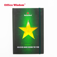 Custom brand strap promotion note book