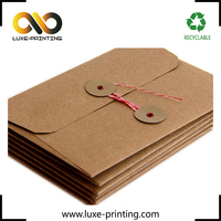 Handmade Customized Hot Stamping Kraft Envelope