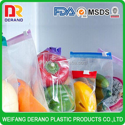big clear plastic Slider Bags for Fruits