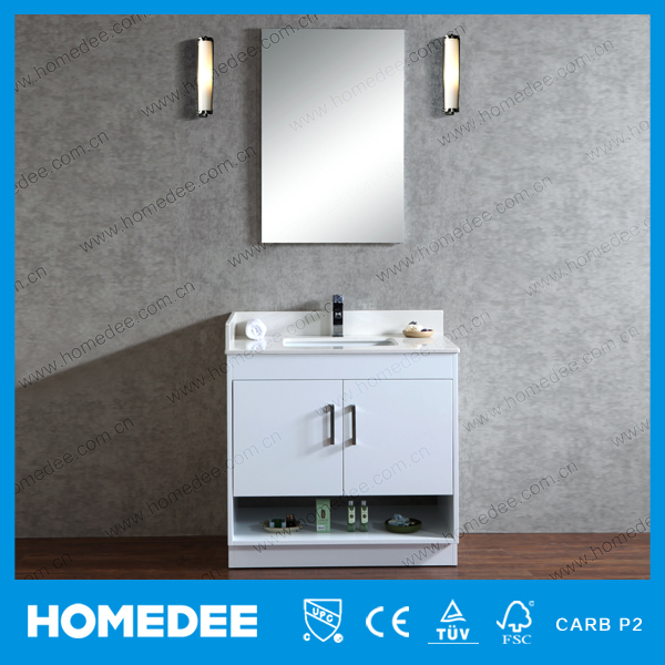 HOMEDEE china High Quality Solid Wood Bathroom Cabinet,Small Size Wash Basin vanity cabinet 9101