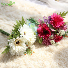 Cheap price plastic rainbow gerbera daisy daisy craft flower bouquet