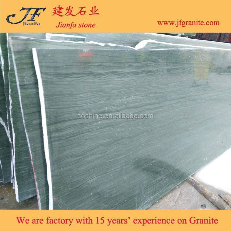 Natural Rain Forest Verde Bamboo Green Granite Slab For Countertop