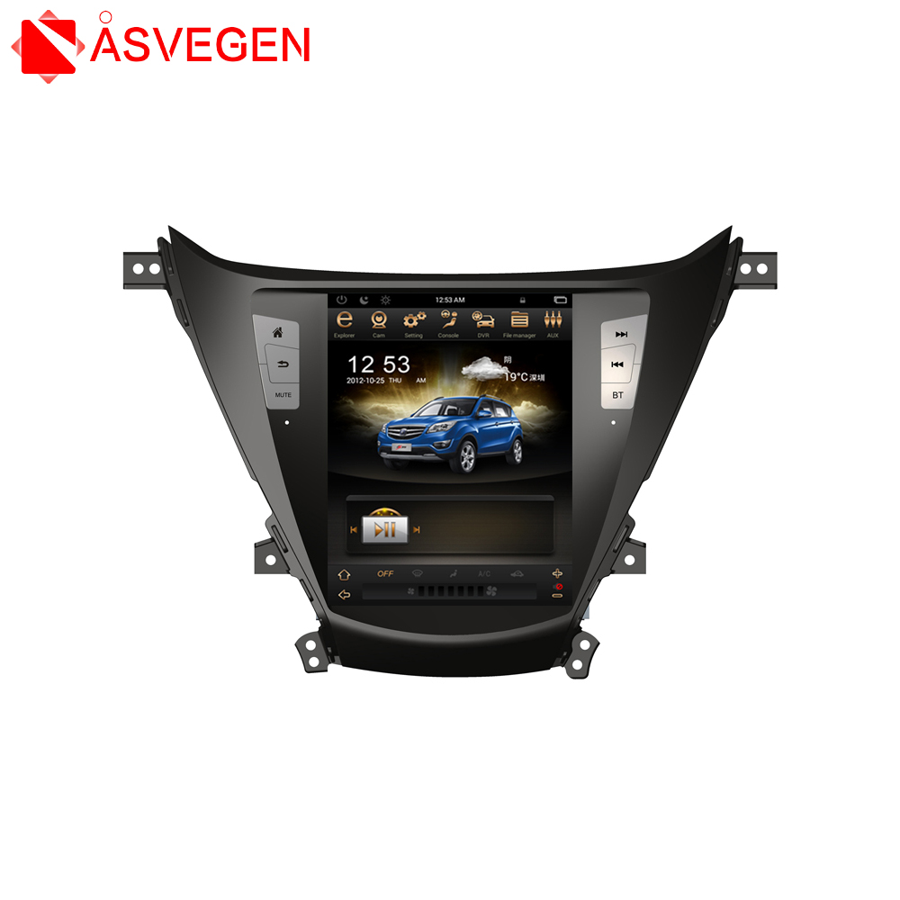 Tesla Vertical Screen Car Navigation Device For Hyundai Elantra 2013-2016 Support GPS Audio Radio Video Bluetooth MP3 MP4 Player