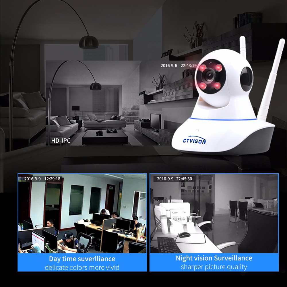 New Fashion Products Promotion Personalized IP Video 720p Kamera CCTV Wireless