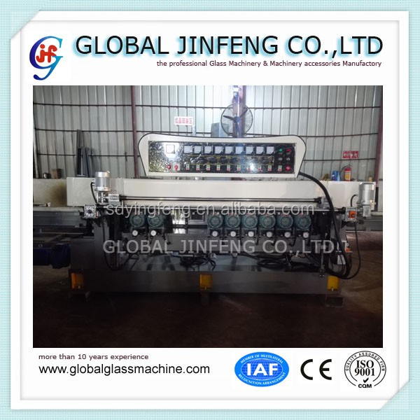CE Best price 9 wheels glass mosaic beveling machine with pneumatic polishing