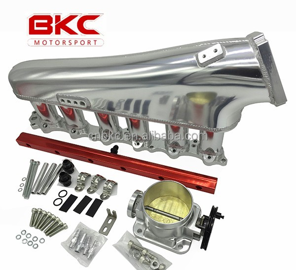BK-3112SET Supra 1JZ Billet Intake manifold with fuel rail and throttle body 90mm