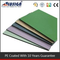 Alusign stainless steel Alusign plastic glass coating aluminum composite panelfor cars polystyrene sheet aluminium build