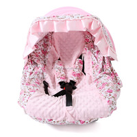 baby girl fashion car seat covers design cotton fur printed pink floral funny car seat covers