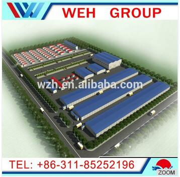 prefabricated steel structure warehouse/ workshop/building / flat roof steel building