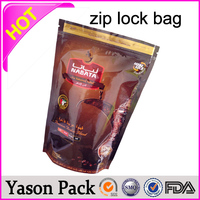 YASON plastic bag for packaging hair extension specimen plastic bags packing cooking oil plastic bag